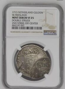 Click now to see the BUY IT NOW Price! 1713 DOUBLE STRUCK NETHERLANDS FRIESLAND SILVER GULDEN NGC VF25