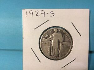 1929 S STANDING LIBERTY SILVER QUARTER EXCELLENT DETAILS & EYE APPEAL