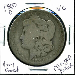 1880 O VG MORGAN DOLLAR 90  SILVER GOOD U.S.A COMBINE SHIP $1 COIN CC598