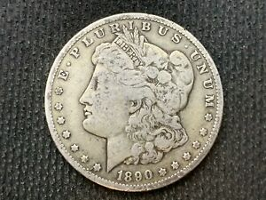 1890 O  MORGAN DOLLAR   VF XF      3 OR MORE   FREE S/H      90  SILVER    C1140