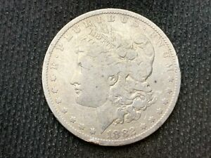 1882 O  MORGAN DOLLAR   F VF       3 OR MORE   FREE S/H      90  SILVER    C1126