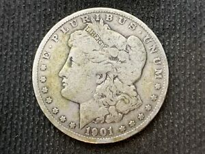 1901 O  MORGAN DOLLAR   F VF       3 OR MORE   FREE S/H      90  SILVER    C1122