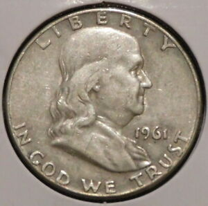 FRANKLIN HALF DOLLAR   1961 D   HISTORIC SILVER    $1 UNLIMITED SHIPPING