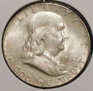 FRANKLIN HALF DOLLAR   1962 D   HISTORIC SILVER    $1 UNLIMITED SHIPPING