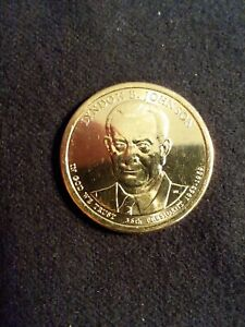 2015 D LYNDON JOHNSON $1 COIN