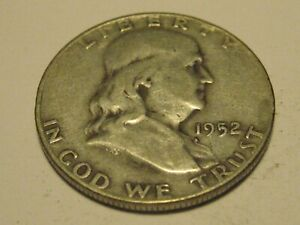 1952 D FRANKLIN HEADHALF DOLLAR