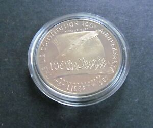 PROOF 1987 S U.S. CONSTITUTION BICENTENNIAL  COMMEMORATIVE 90  SILVER DOLLAR