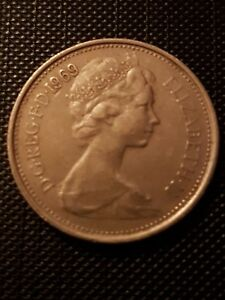 1969  BRITISH 5P FIVE NEW PENCE COIN. FREEPOST.        18049BF