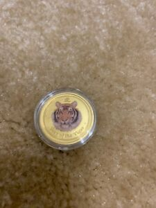Click now to see the BUY IT NOW Price! 2010 PERTH MINT COLORIZED GOLD COIN LUNAR TIGER SERIES 2 1/4 OZ $25  BU