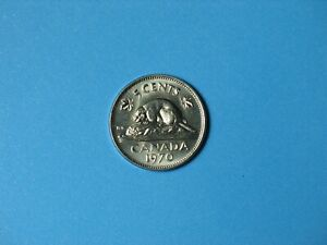 UNCIRCULATED from original roll LOW MINTAGE Canada 1971 Nickel