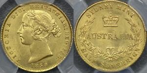 Click now to see the BUY IT NOW Price! AUSTRALIA 1858 SYDNEY MINT HALF SOVEREIGN   PCGS MS62