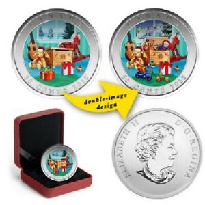 CANADA 2015 HOLIDAY TOY BOX 50 CENTS HOLOGRAPHIC COIN   LENTICULAR COIN
