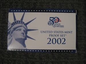 2002 UNITED STATES MINT PROOF SET 10 COIN SET MIB WITH COA