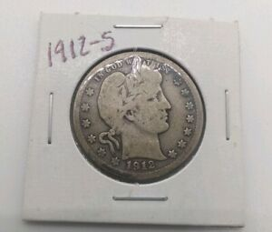 1912 S BARBER QUARTER VG BETTER DATE