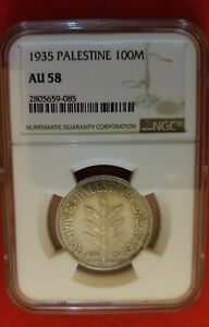 Click now to see the BUY IT NOW Price! ISRAEL PALESTINE COIN 100 MILS 1935 NGC AU 58  UNC