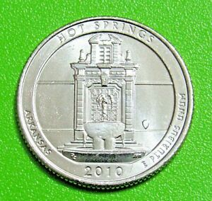 2010 D 25C HOT SPRINGS ARKANSAS   NATIONAL PARKS   AMERICA THE BEAUTIFUL QUARTER