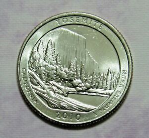 2010 P 25C YOSEMITE CALIFORNIA NATIONAL PARKS AMERICA THE BEAUTIFUL QUARTER