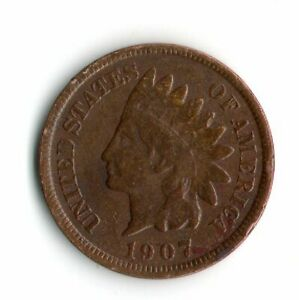 1907 INDIAN HEAD PENNY    2089