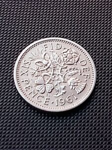 1961 SIXPENCE 6D COIN   QUEEN ELIZABETH II   GREAT BRITAIN. FREEPOST.    18049AC