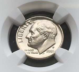 Click now to see the BUY IT NOW Price! 1981 P ROOSEVELT 10C  NGC MS68FT   ULTRA   POP 27/0  GUIDE: $1 400