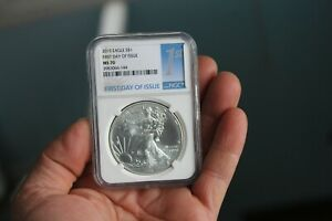 2015  SILVER EAGLE FIRST DAY OF ISSUE MS 70