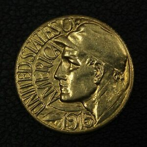 1915 S PANAMA PACIFIC GOLD COMMEMORATIVE DOLLAR $1 PAN PAC   CLEANED