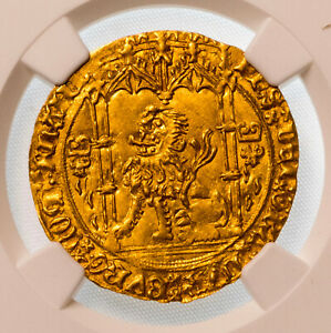 Click now to see the BUY IT NOW Price! BELGIUM HAINAUT PHILIPPE LE BON 1433 67 GOLD LION D'OR NGC AU58 FANTASTIQUE