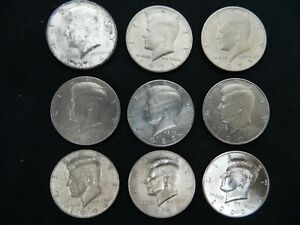 Click now to see the BUY IT NOW Price! LIBERTY KENNEDY HALF DOLLARS 9 EA. 1964 1971 1973 1977 1988 1900 1994 1996 2003