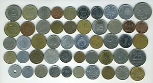 LOT OF 50 WORLD COINS   50 DIFFERENT COUNTRIES   GREAT STARTER   LOT L 50 14