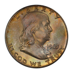 Click now to see the BUY IT NOW Price! 1963 D 50C FRANKLIN HALF DOLLAR PCGS MS66 FBL   CAC   3151 42