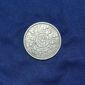 GREAT BRITAIN TWO SHILLINGS 1956 SILVER COIN