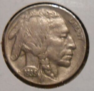 CIRCULATED 1935 BUFFALO NICKEL FULL HORN