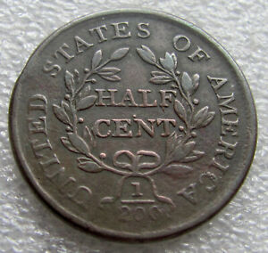 1804 DRAPED BUST 1/2 CENT