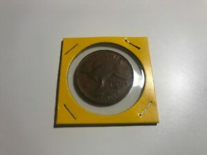 AUSTRALIA ROUND ONE  1  PENNY PIECE 1964 COLLECTABLE COIN
