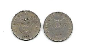 COLOMBIA 2 COINS 50 PESOS YEAR 1990 1993 [27]