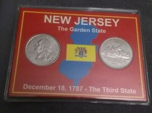 1999 P & D NEW JERSEY UNC STATE QUARTER  SET WITH CARD