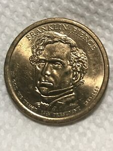 $1 FRANKLIN PIERCE PRESIDENTIAL DOLLAR COIN 2010 D MINT USD $1