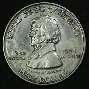 1925 FORT VANCOUVER SILVER COMMEMORATIVE HALF DOLLAR   CLEANED