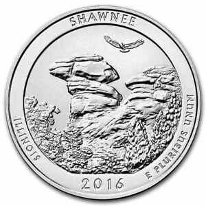 2016 SHAWNEE AMERICA THE BEAUTIFUL 5 OZ .999 FINE SILVER QUARTER 5 OUNCE