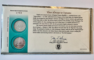 2000 VIRGINIA FIRST DAY COVER SEALED CELLO WRAP Q19    P & D STATE QUARTER