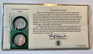 2004 FLORIDA FIRST DAY COVER SEALED CELLO WRAP Q36    P & D STATE QUARTER