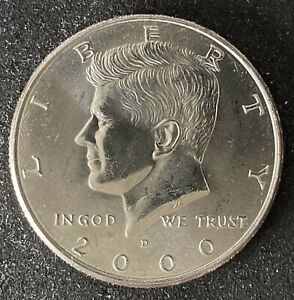 2000 D KENNEDY HALF DOLLAR BU UNCIRCULATED COIN DDR ERROR  1300