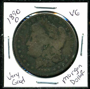 1890 O VG MORGAN DOLLAR 90 SILVER GOOD U.S.A COMBINE SHIPPING$1 COIN C1119