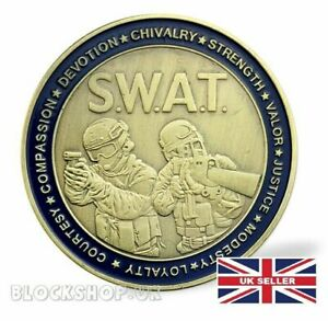 SWAT TEAM & ST GEORGE   COIN MEDALLION   MILITARY COMMEMORATIVE CHALLENGE  CN8