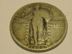 1926 S STANDING LIBERTY QUARTER VG 90  SILVER