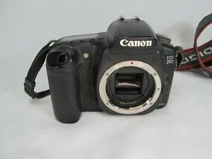 BROKEN INFD CANON EOS 20D CAMERA DSLR BODY FOR PARTS OR REPAIR.
