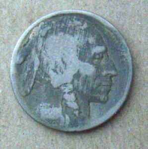 192I BUFFALO NICKEL IN ROUGH CONDITION   ORIGINAL SURFACE WEAK DETAILS