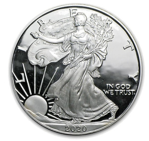 COMMEMORATIVE 2020 SILVER COATED AMERICAN STATUE OF LIBERTY EAGLE COIN 40MMX3MM