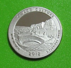 2012 S 25C CHACO CULTURE NEW MEXICO NATIONAL PARKS AMERICA THE BEAUTIFUL QUARTER