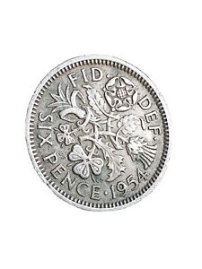1954 GREAT BRITAIN 6 PENCE SIXPENCE QUEEN ELIZABETH II COLLECTABLE COIN 280320